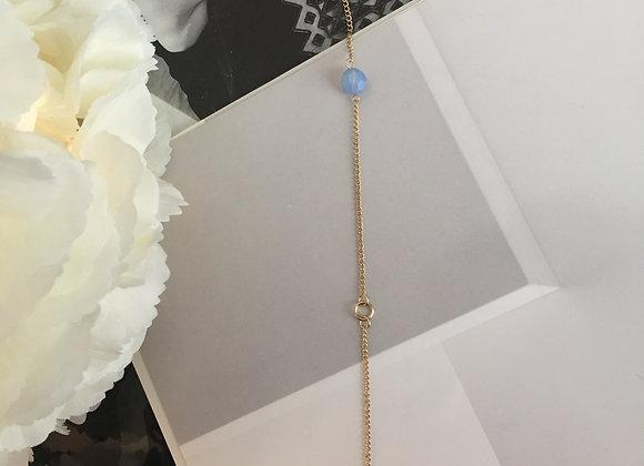 Swarovski Opal Baby Blue Crystal and Flowing Star Bracelet