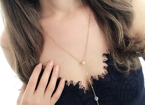 Moon and Star Gold Lariat