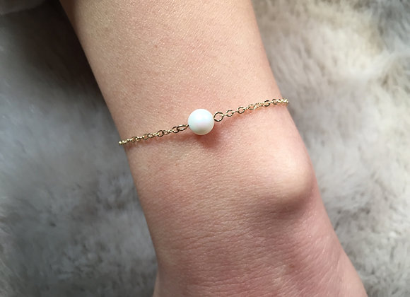 Unicorn Baby Pearl and Gold Chain Bracelet