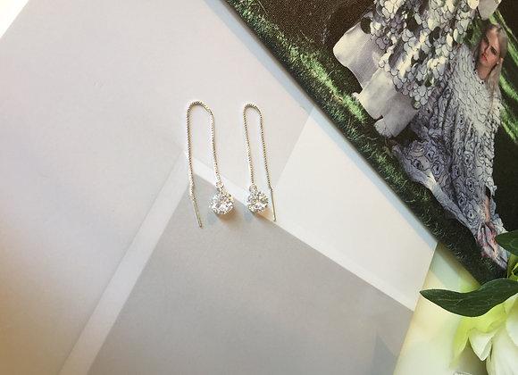 Sterling Silver Chain Drop Earring
