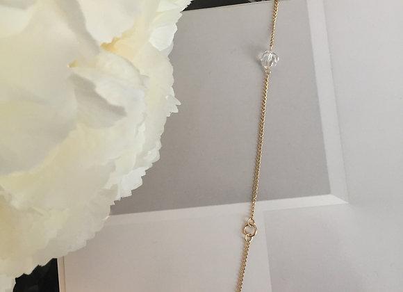 Swarovski Moon Crystal and Flowing Star Bracelet