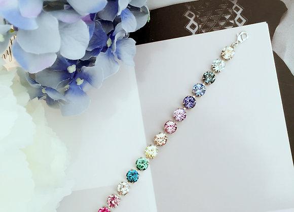 Rainbow Sparkles Swarovski Tennis Bracelet
