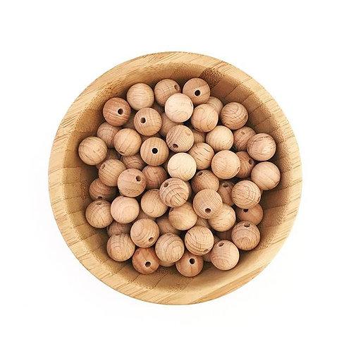 14mm beech wood beads