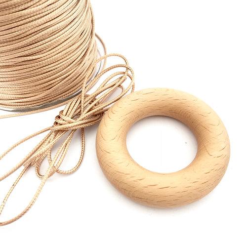 1.5mm tan + natural waxed cord - 10m lengths