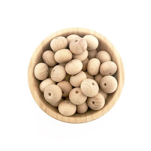 22mm abacus beech wood beads