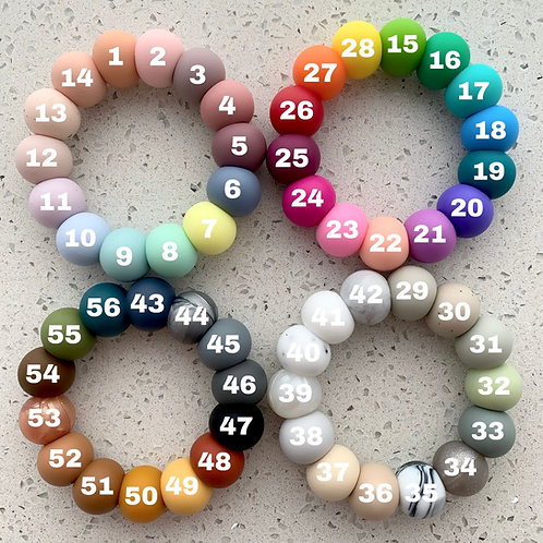 15mm round silicone beads - set 50