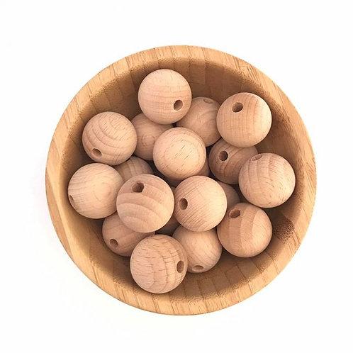 25mm beech wood beads