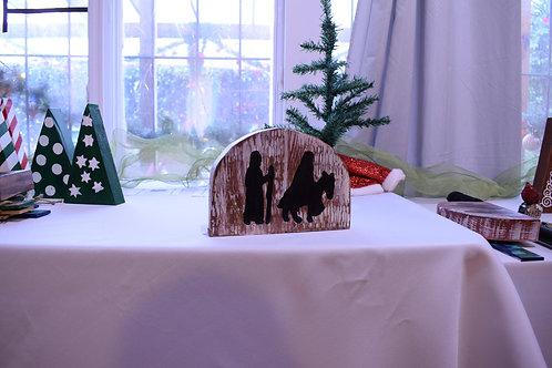 Nativity Block Whitewash Stain