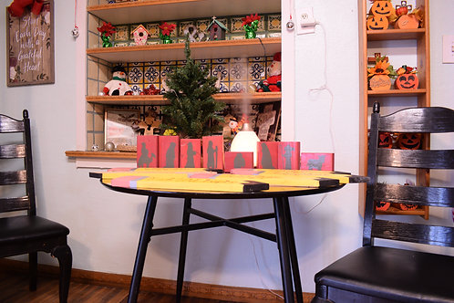 Wood Block Nativity Set - Red