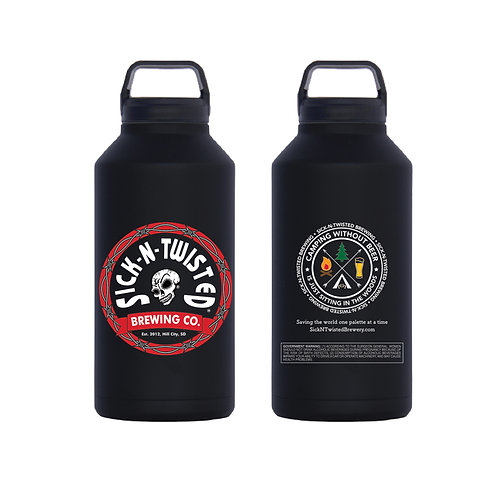 Matte Black Growler 64oz