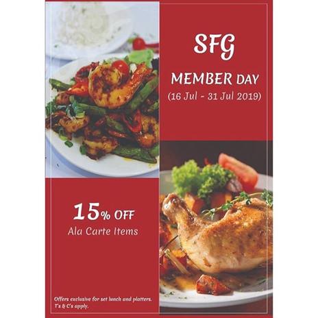 It's SFG Member Day!