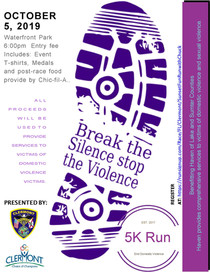 2019 Break the Silence Stop the Violence 5k Race scheduled!!