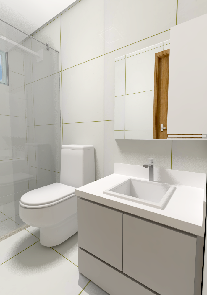 Apartamento Tipo - Vista Banheiro