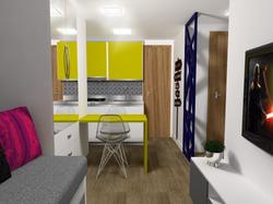 Apartamento Tipo - Vista Cozinha