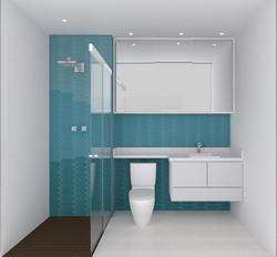 Vista Frontal - Banheiro
