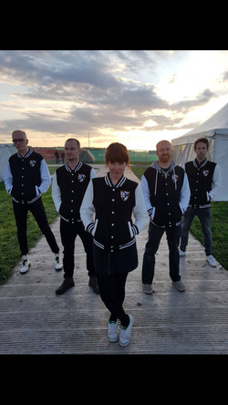 B Hives sunset and jackets front