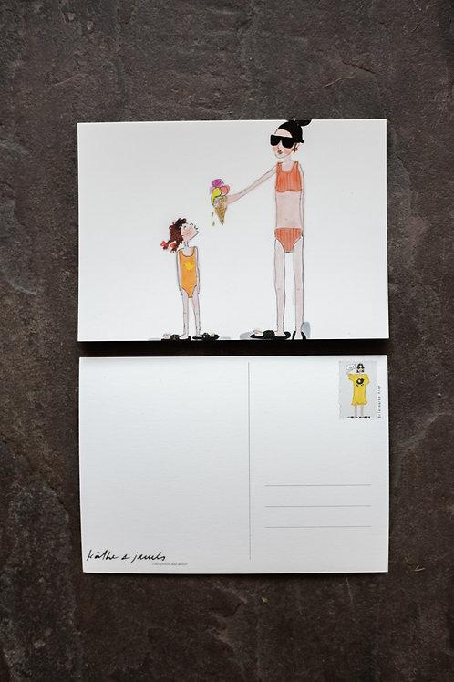 "Postkarte ""Eis essen"""