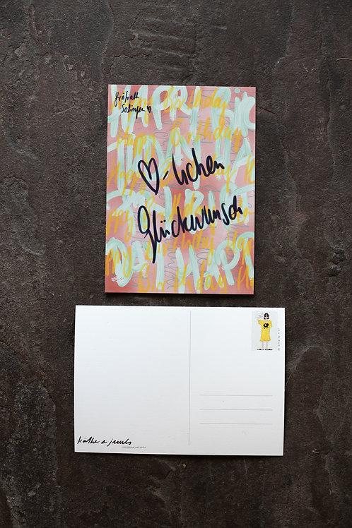 """Postkarten """"Herzlichen Glückwunsch"""""""