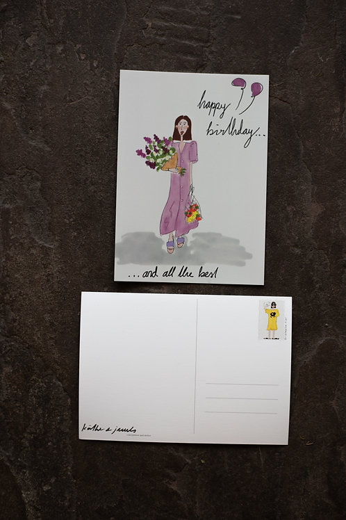 "Postkarte ""Birthday Girl"""