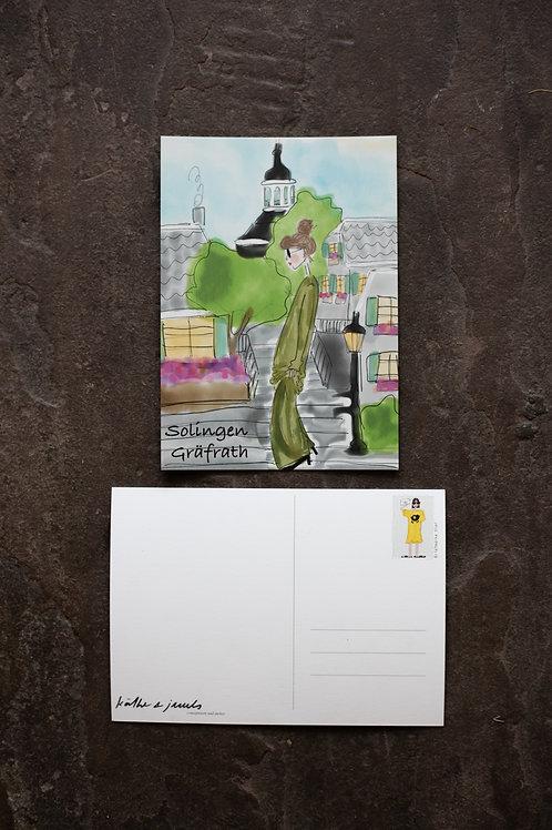 """Postkarte """"Gräfrath"""""""