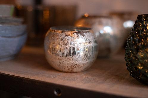 Silbernes Teelicht