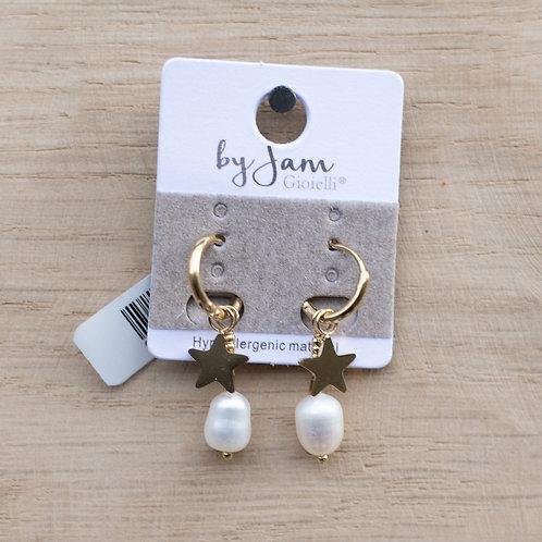 Ohrringe Stern mit Perle