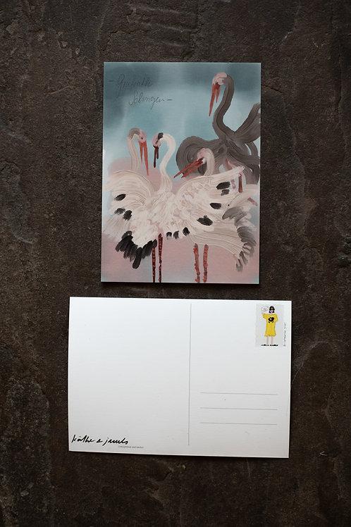 "Postkarte ""Störche"""