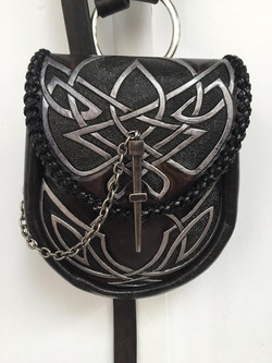 pouch carved strap pippa2 knotwork silver