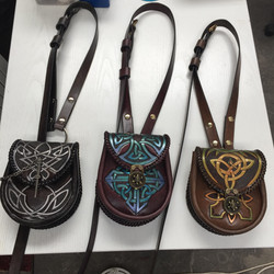 pouches carved straps