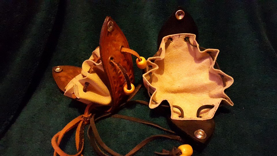 Open Leather Purses