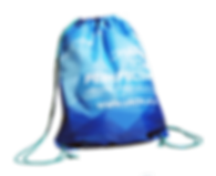Branded promotional drawstring bags, nylon backpacks, bespoke with full colour digitally printed corporate university logo.