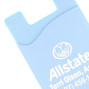 Promotional technology phone cases accessories products. Pantone matched printed with company logos, silicone smart wallets.