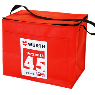 Branded promotional kitchenware summer ideas, cooler bags screen printed with personalised company logo.