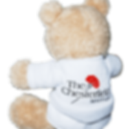Branded promotional children's soft stuffed plush toy bespoke teddy bear printed with Mayfair hotel logo.