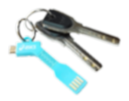 Branded syncing and charging cables keyrings for iphones, Samsungs, tech giveaways promotional incentives printed logos.