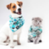 Promotional pets, dogs and cats triangle bandanas 2 in 1 cooling effect towels printed with logos.