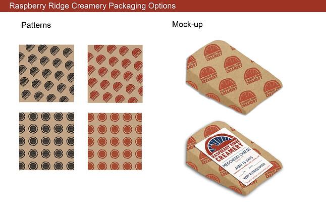 Raspberry Ridge Creamery Packaging Concept