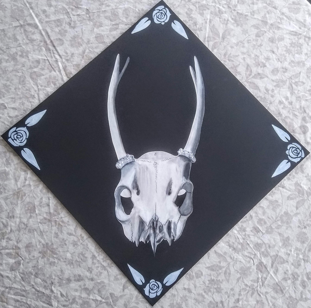 Gesso and Charcoal Skull