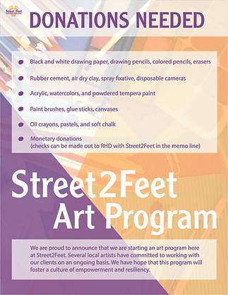 Street2Feet Art Program Flyer