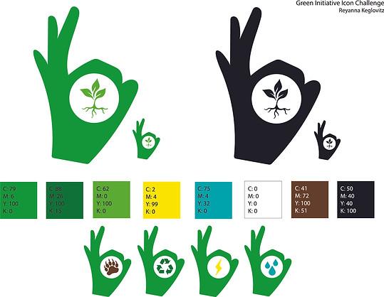 Green Initiative Icon Concept