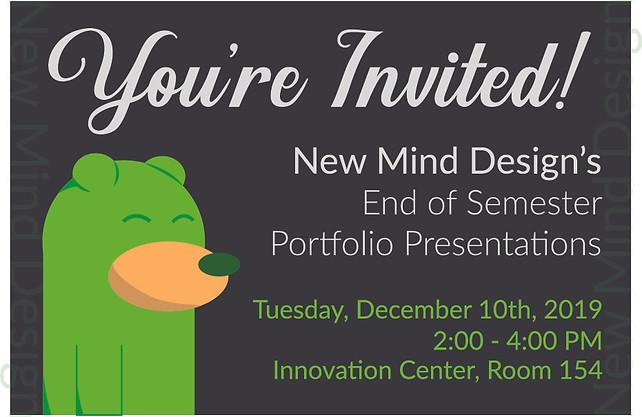 New Mind Design Portfolio Invitation