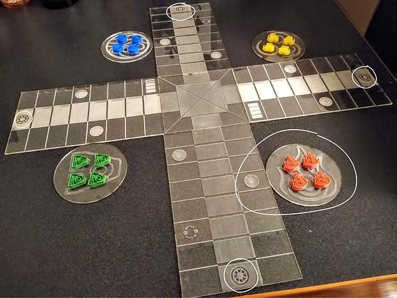 "Custom ""Avatar the Last Airbender"" Game Board"