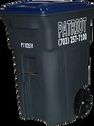 64 gallon recycing cart