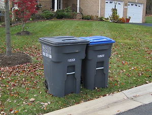 Patriot Disposal residential garbage and recyclin carts