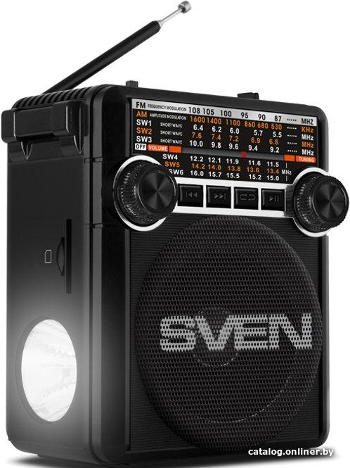 SVEN SRP-355 Black, FM/AM/SW Radio