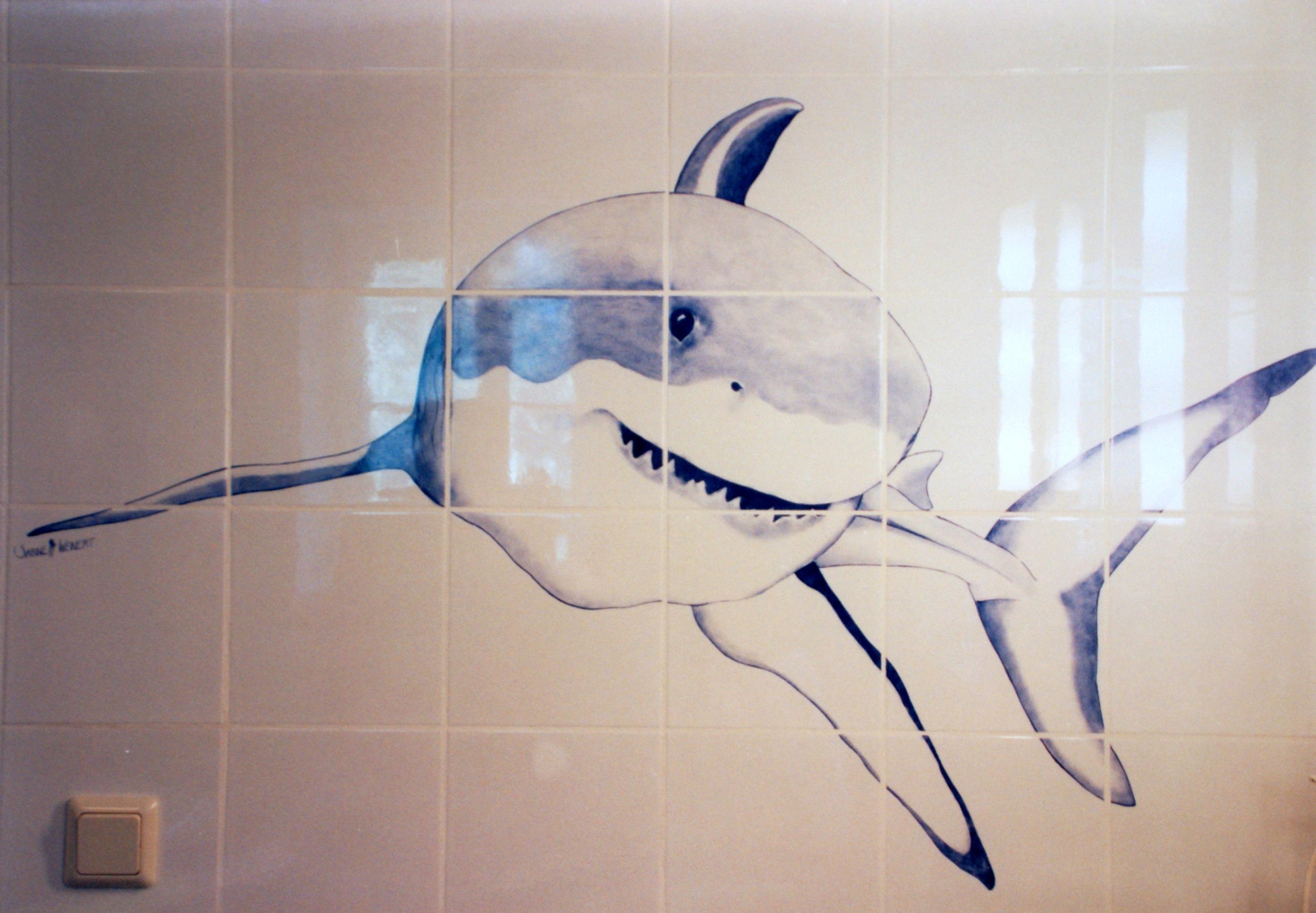 Badezimmer-Hai