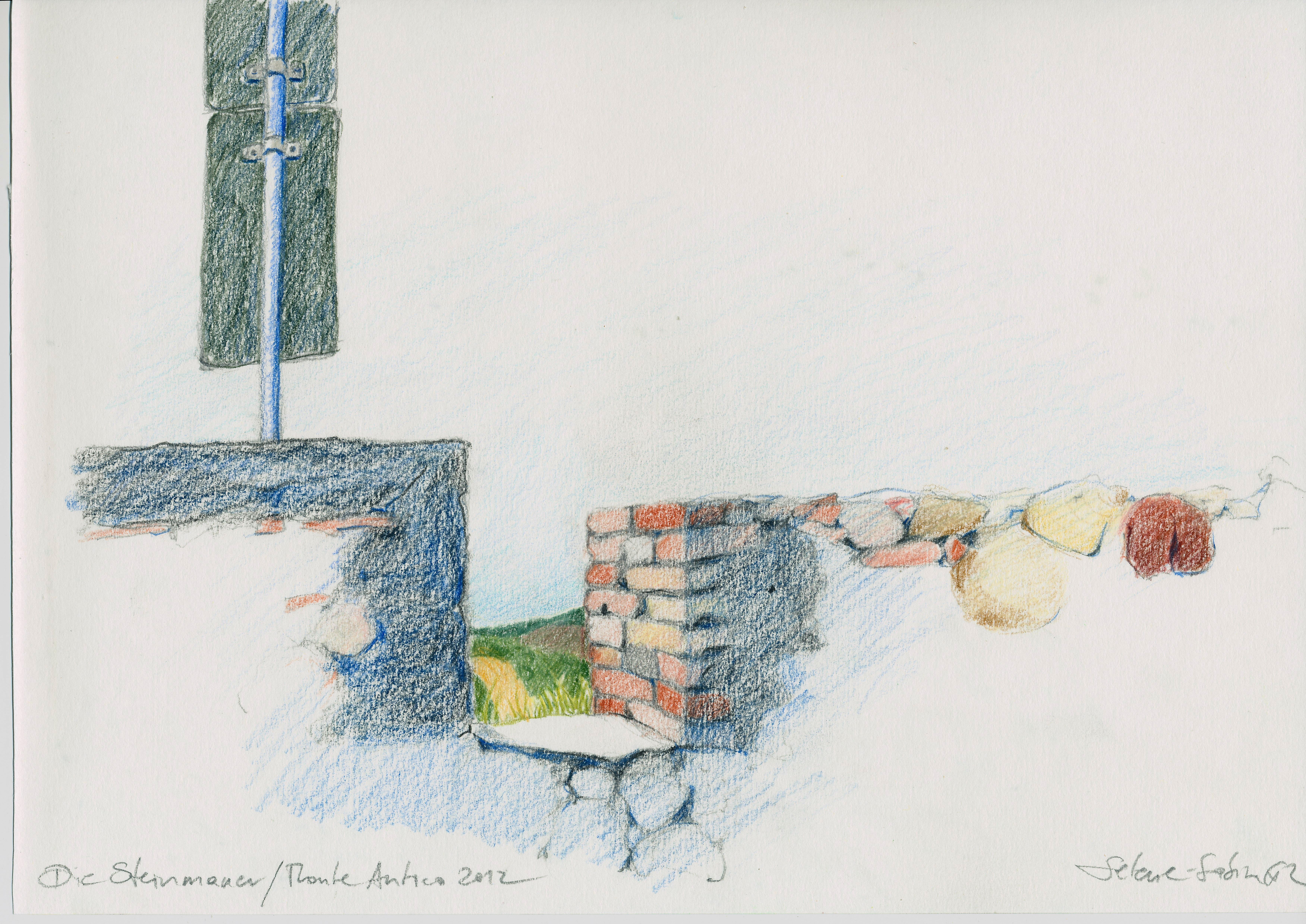 Die Steinmauer Monte Antico