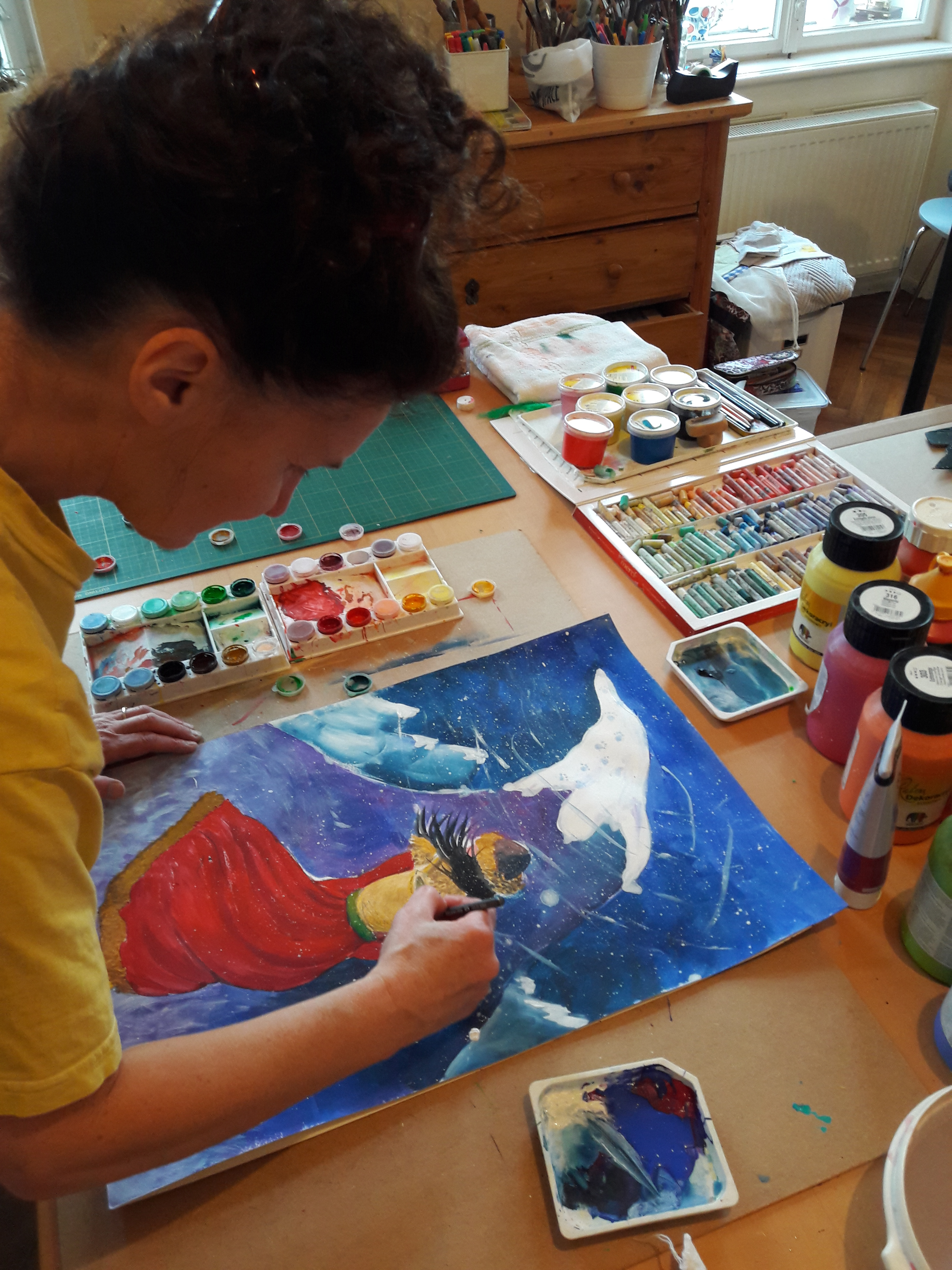 Sabine beim Malen 4