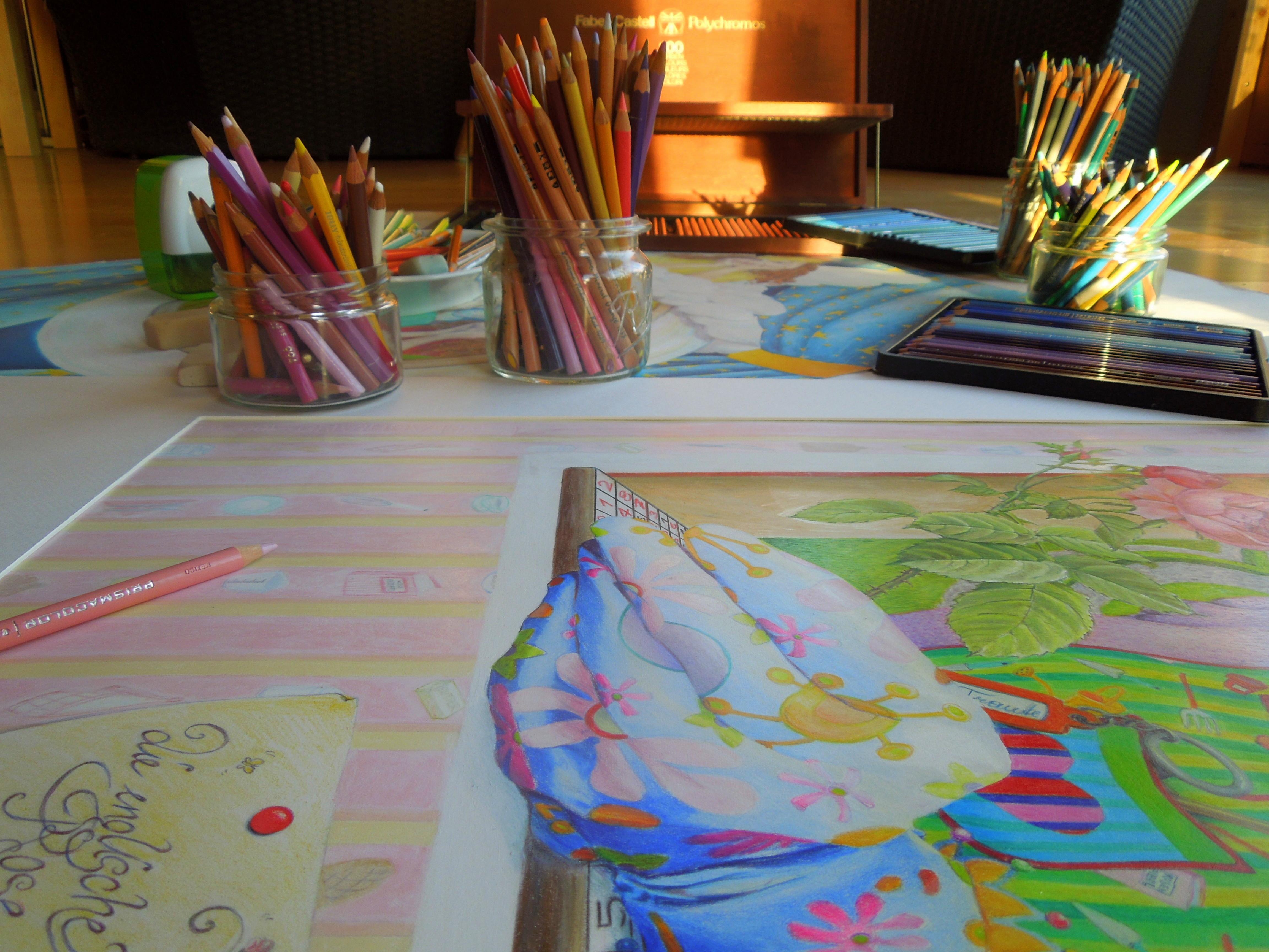 Farbstift-Arbeit