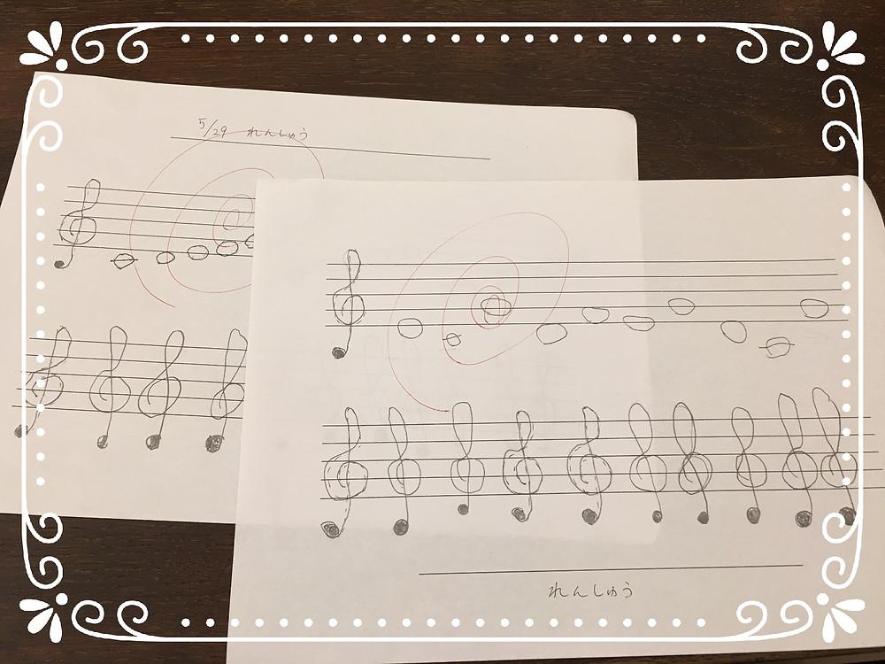 音符の書き取り練習